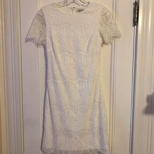 White lace dress. Worn once.